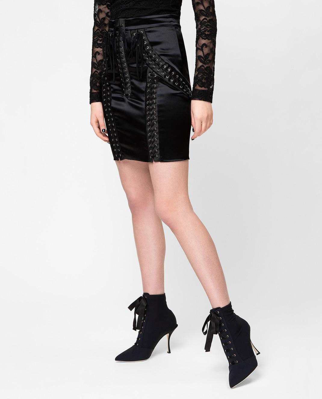 Dolce&Gabbana Черная юбка F4BHKTFURAD изображение 3