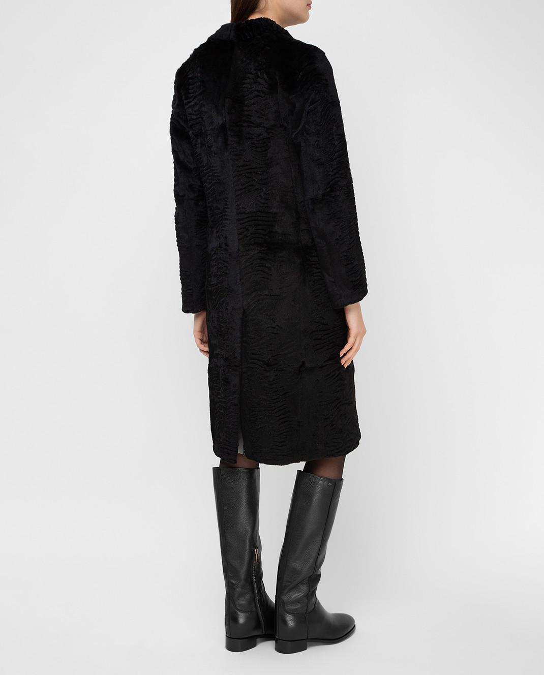 Simonetta Ravizza Черное пальто из кролика GCAPG изображение 4