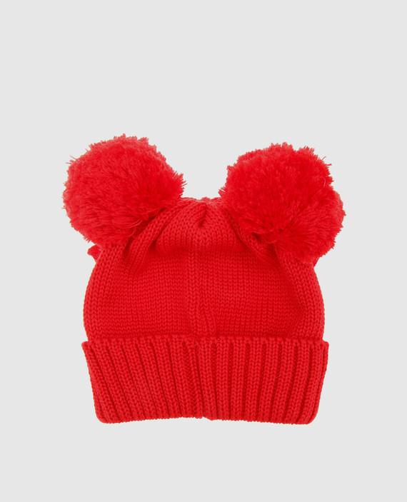 Детская красная шапка hover