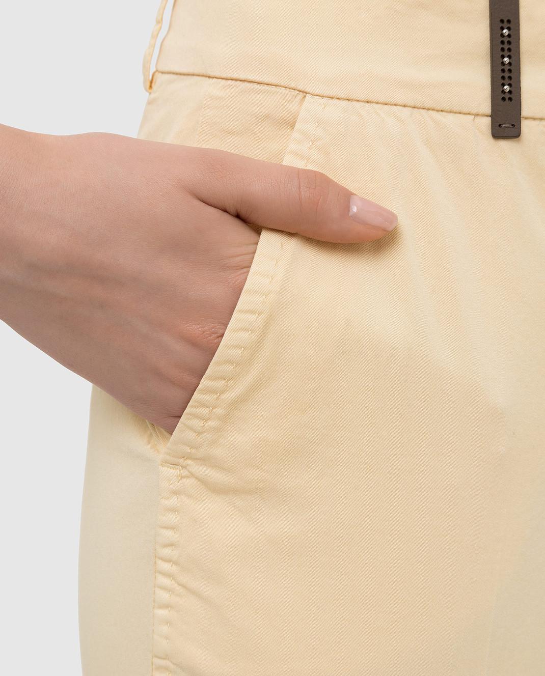 Peserico Светло-желтые брюки P04718T402477 изображение 5