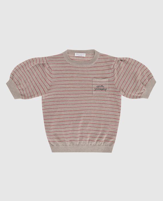 Детский бежевый свитер из льна