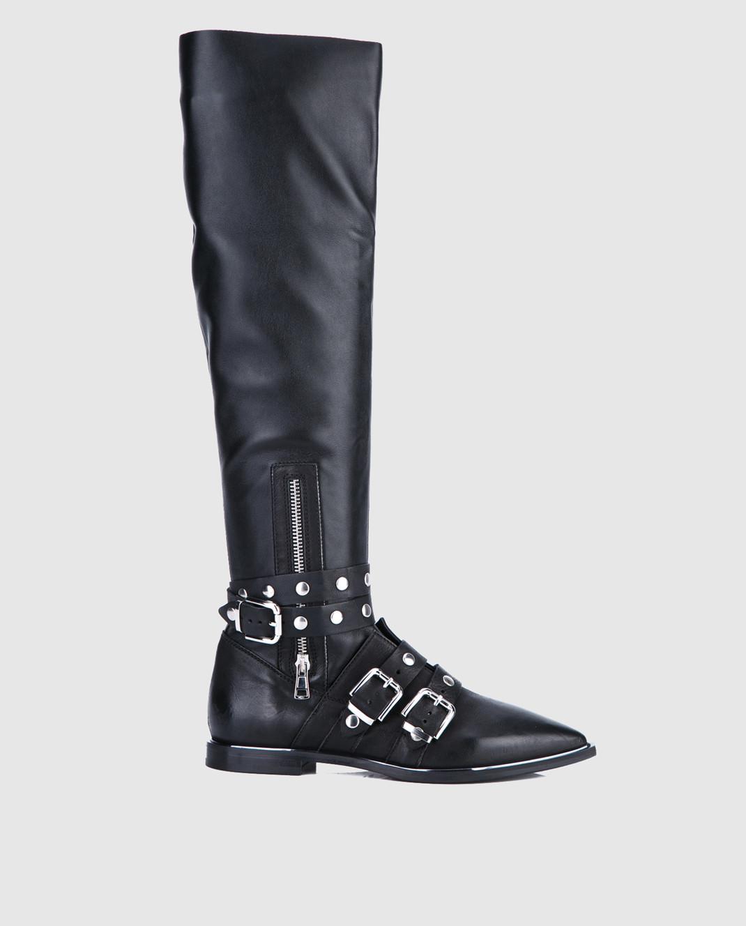 Fru it Черные кожаные сапоги 4865