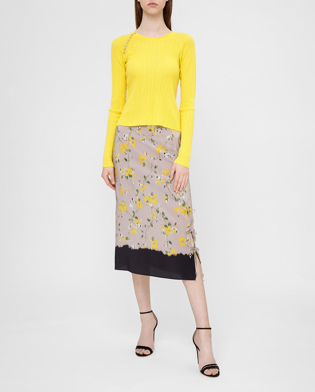 Altuzarra Серая юбка из шелка изображение 2
