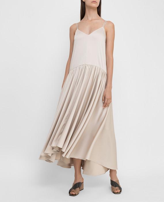 Светло-бежевое платье hover