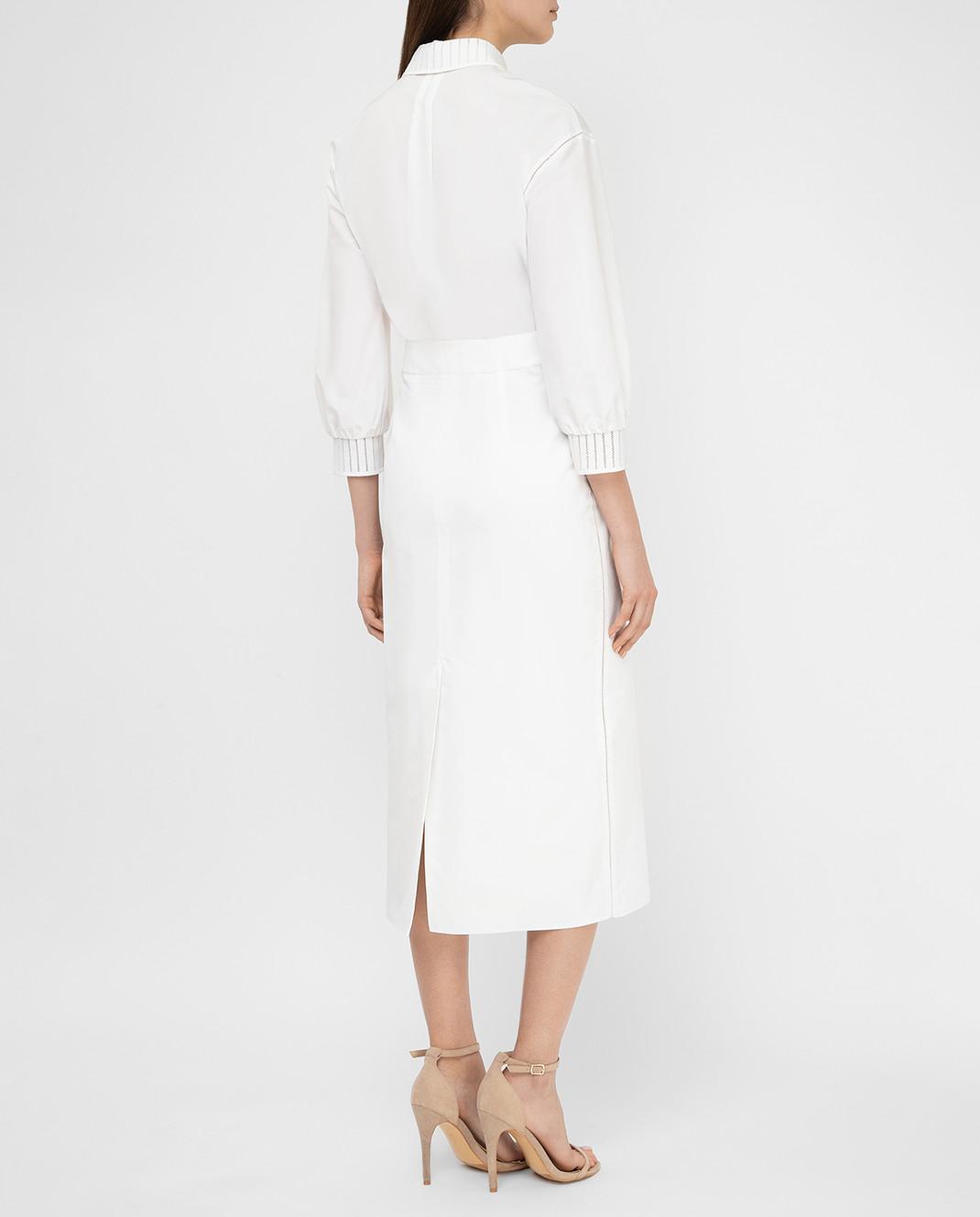 Loro Piana Белое платье F1FAI0540 изображение 4