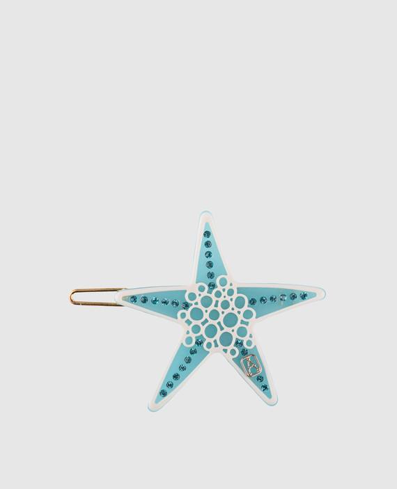 Голубая заколка для волос с кристаллами ILeDeRe