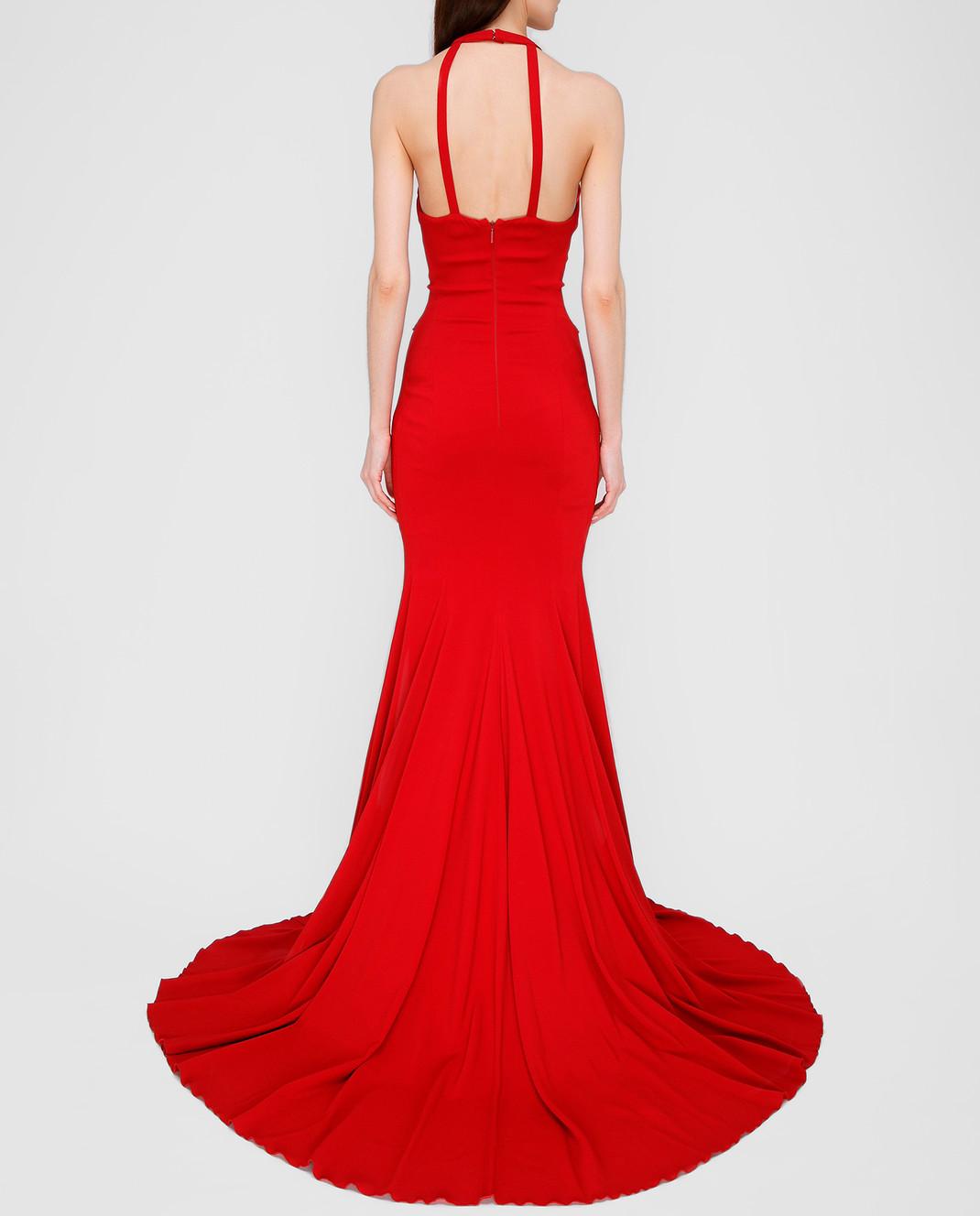 Roberto Cavalli Красное платье со шлейфом XPR184 изображение 4