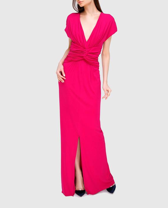 Малиновое платье из шелка hover