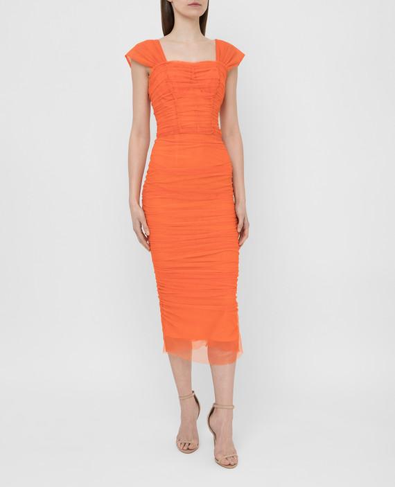 Оранжевое платье hover
