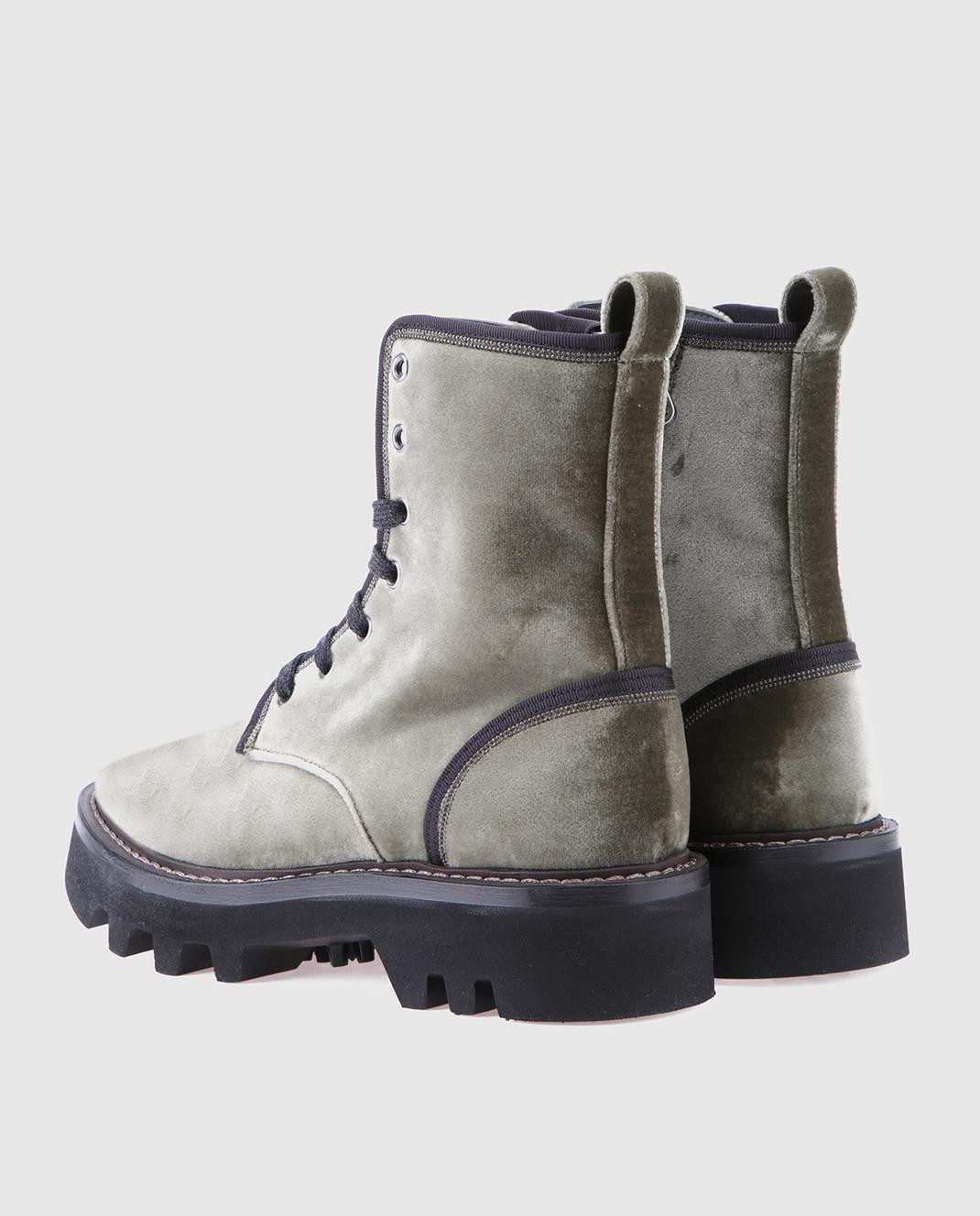 Brunello Cucinelli Зеленые ботинки MZ72G1002 изображение 3