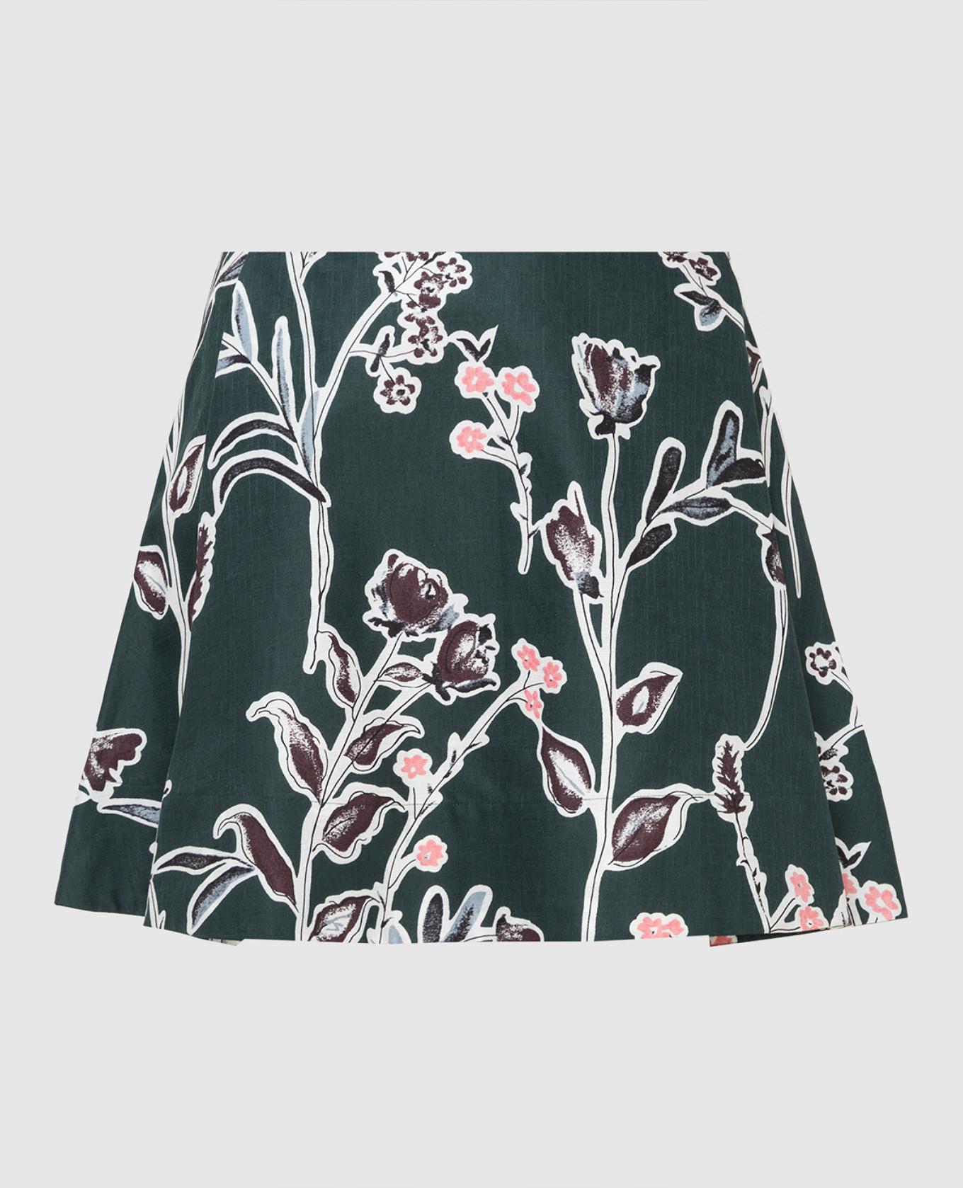 Зеленая юбка
