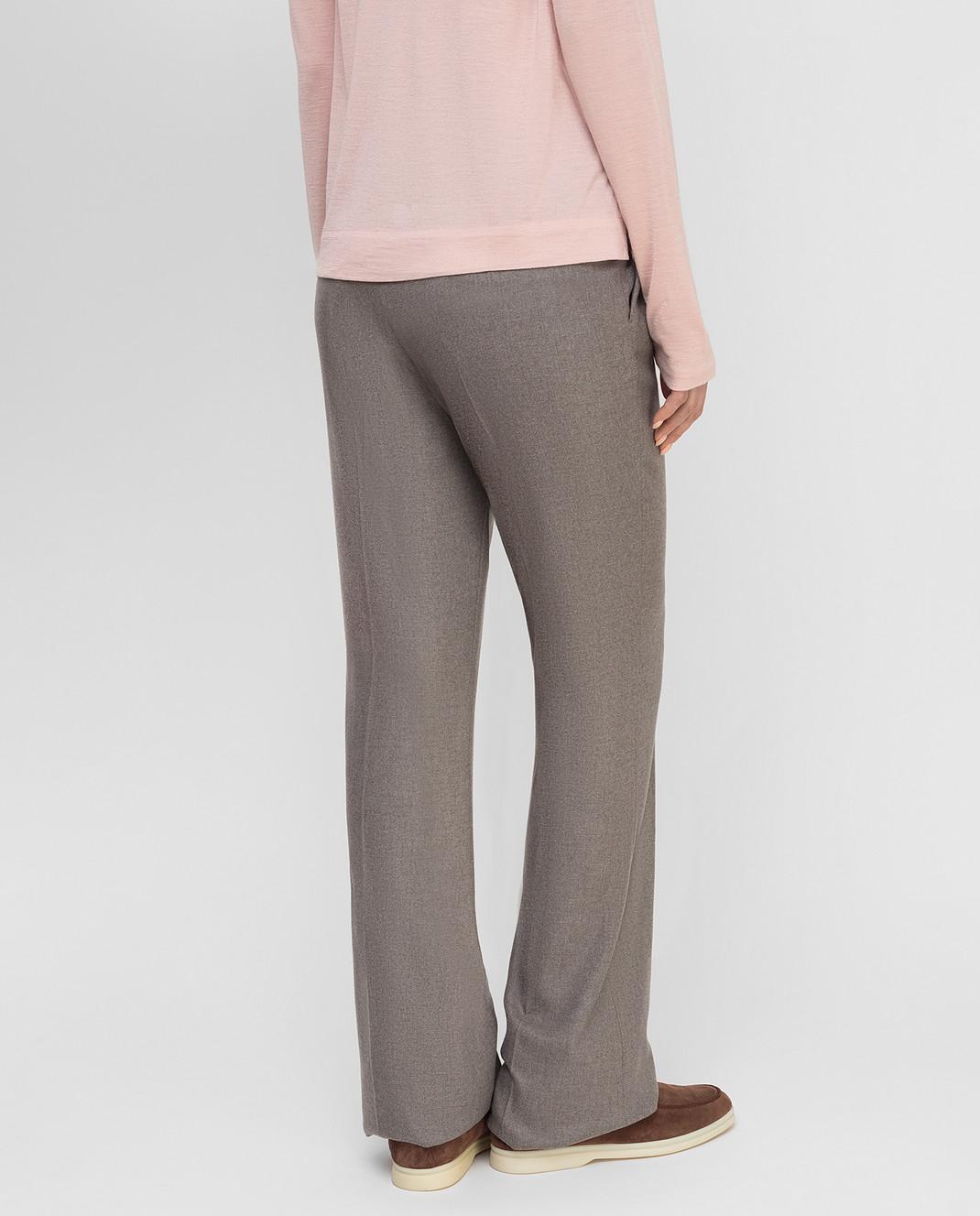 Loro Piana Серые брюки из кашемира F1FAF8151 изображение 4