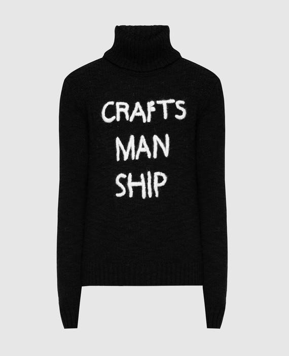 Черный свитер из шерсти