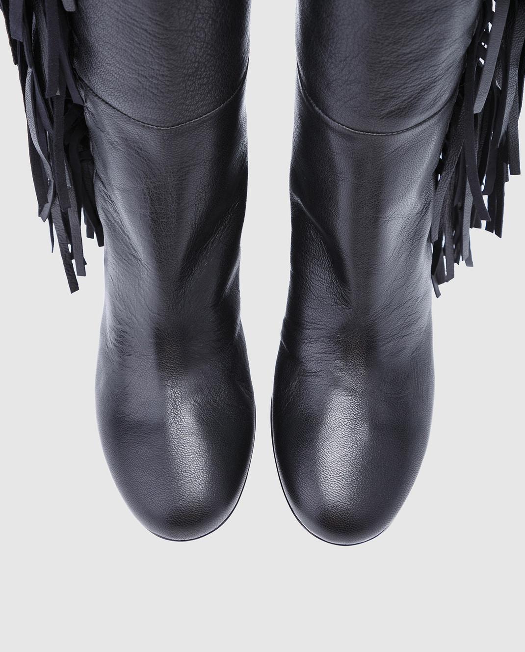 Laurence Dacade Черные кожаные ботфорты Sybille SYBILLE изображение 4