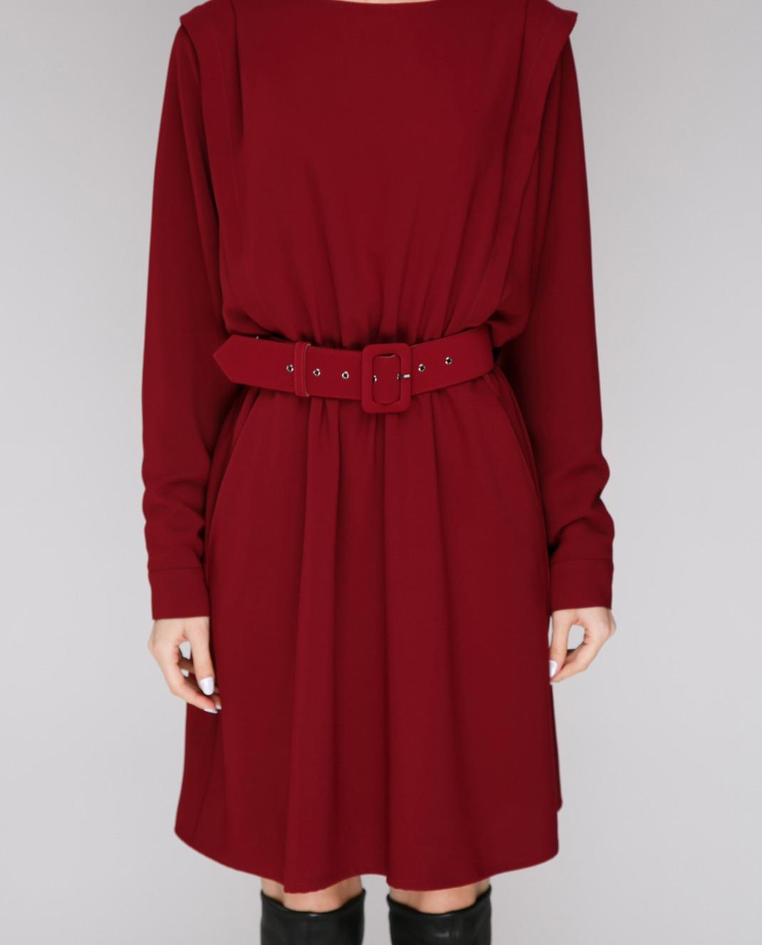 Alexander Terekhov Бордовое платье из шелка D7888007 изображение 3