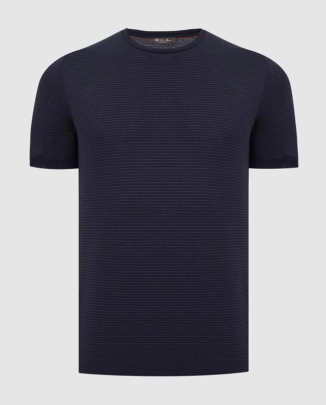 Loro Piana Темно-синяя футболка изображение 1