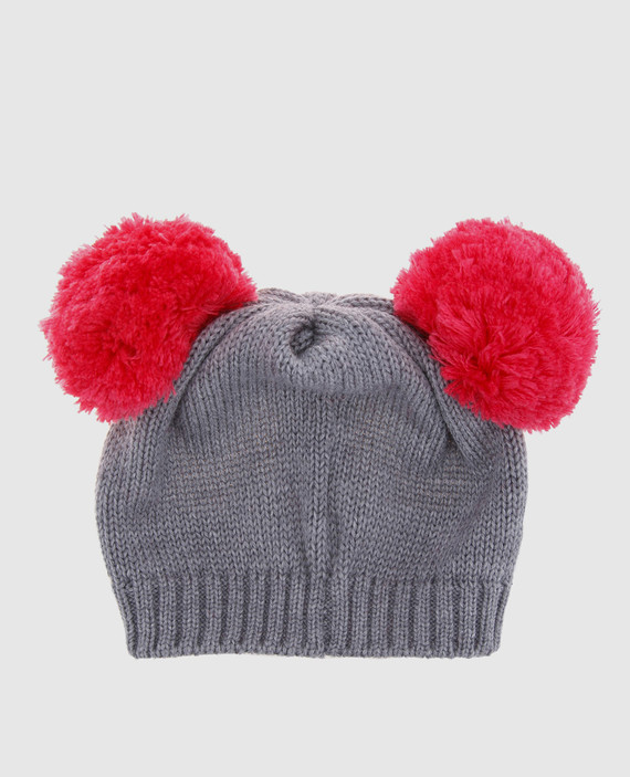 Детская серая шапка hover