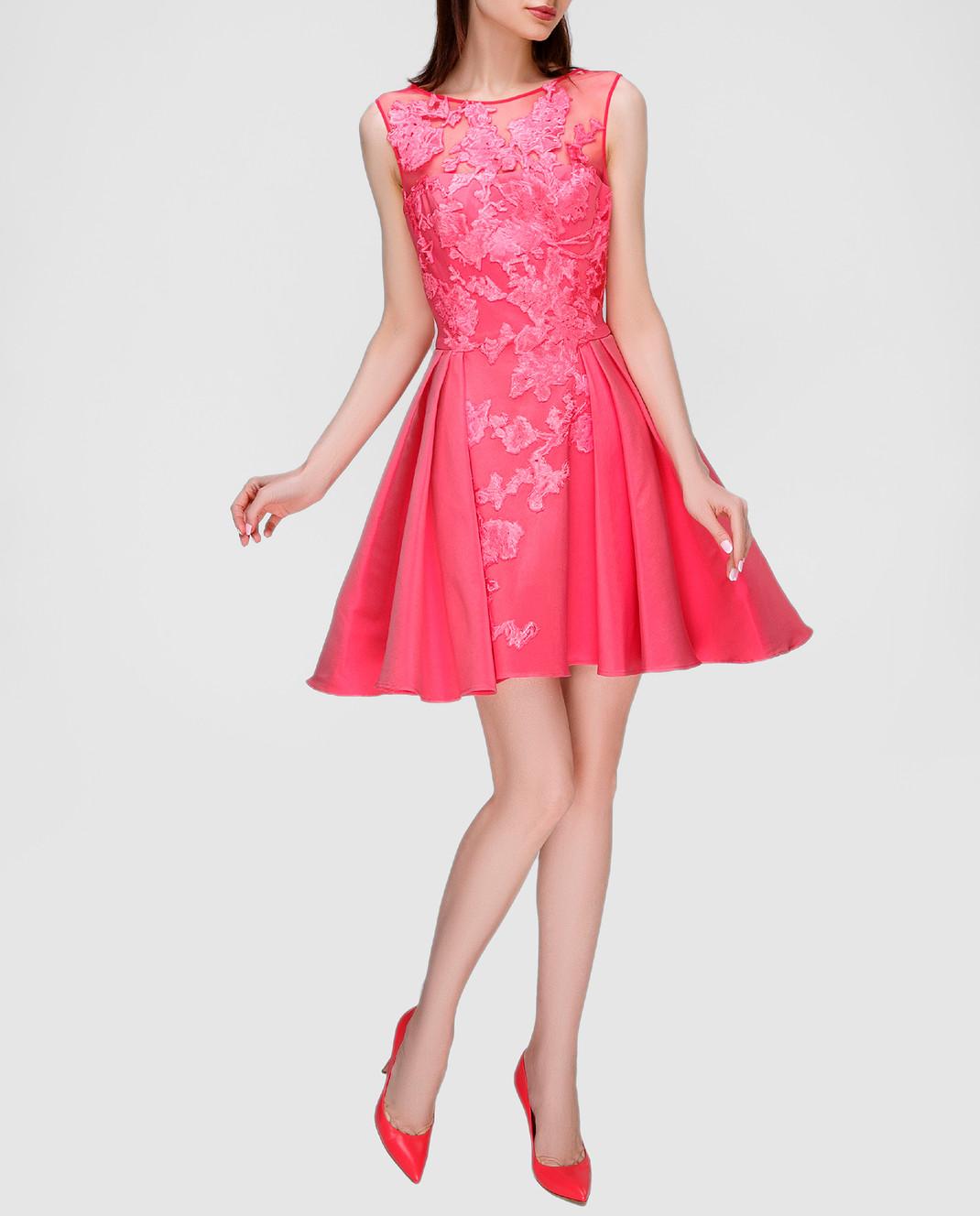 Zuhair Murad Розовое платье RDRS16047DS00 изображение 2