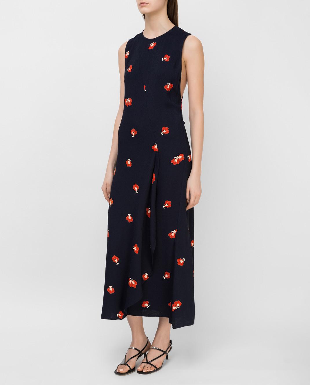 Victoria Beckham Темно-синее платье DRMID6317C изображение 3