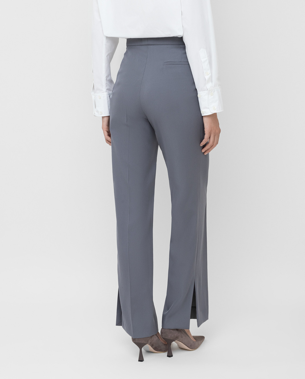 NINA RICCI Серые брюки из шерсти изображение 4