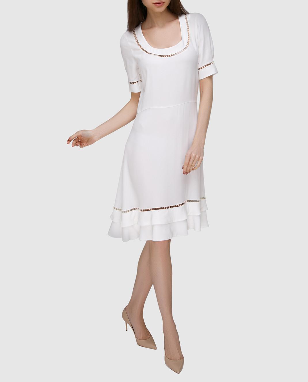 Ermanno Scervino Белое платье с кружевом D302Q320RVJ изображение 2