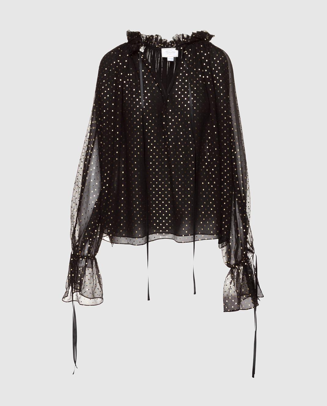 Redemption Черная блуза из шелка 1810RC03TS87