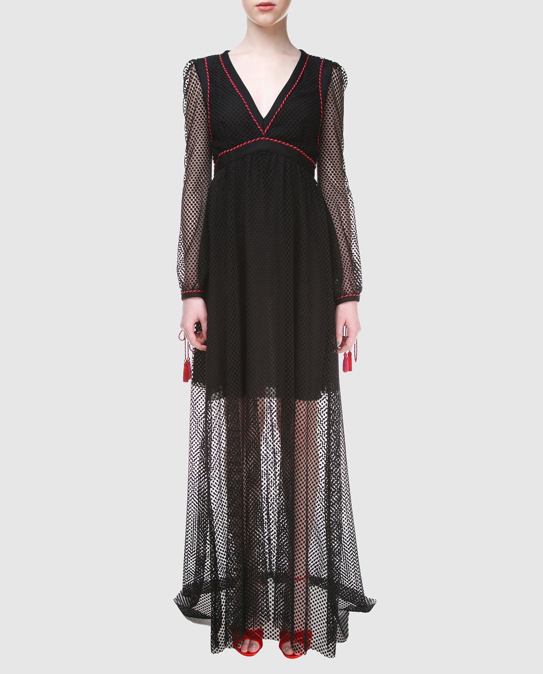 Philosophy di Lorenzo Serafini Черное платье A0441 изображение 2