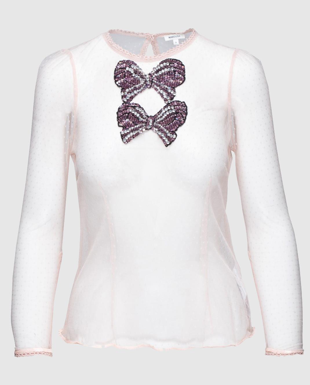 Пудровая блуза Manoush ME7SHTO — Symbol