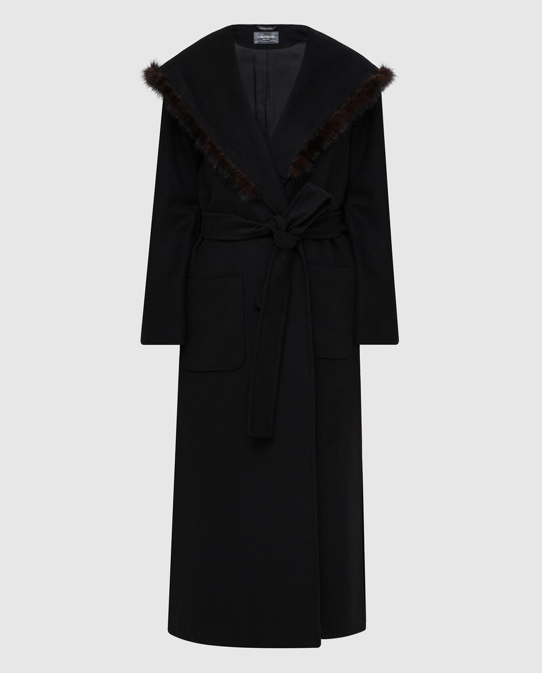 Heresis Черное пальто M33130VIA50