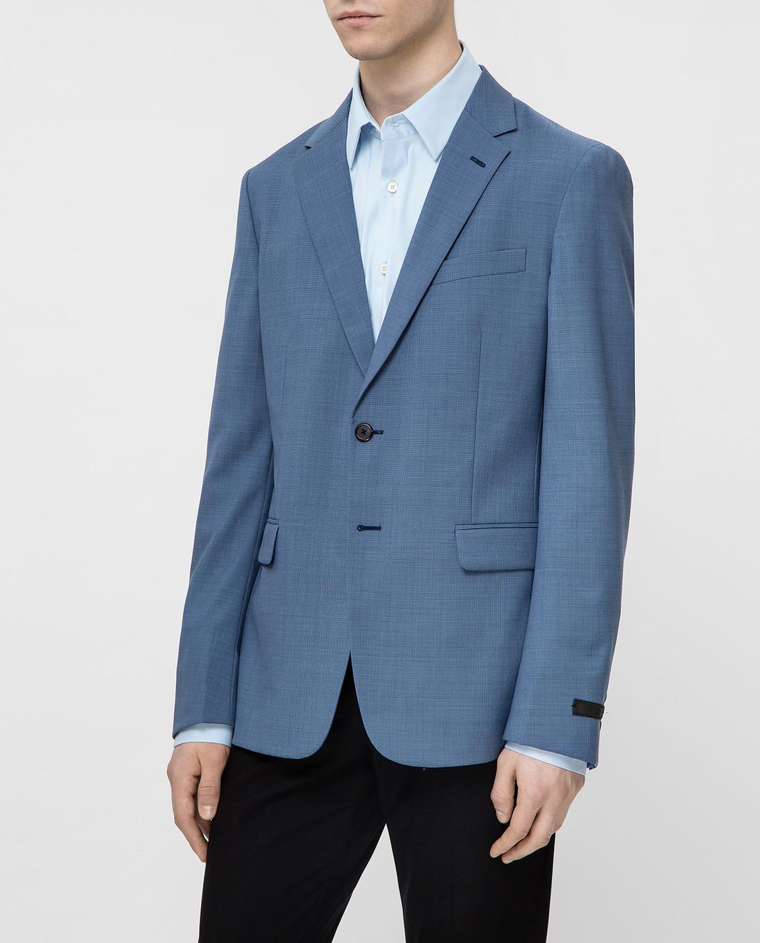 Prada Синий пиджак UGF9421S5T изображение 3