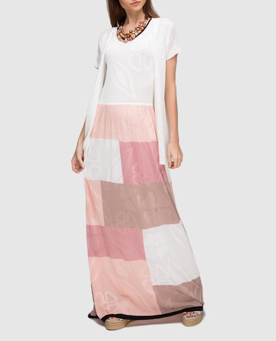 Пудровое платье  hover