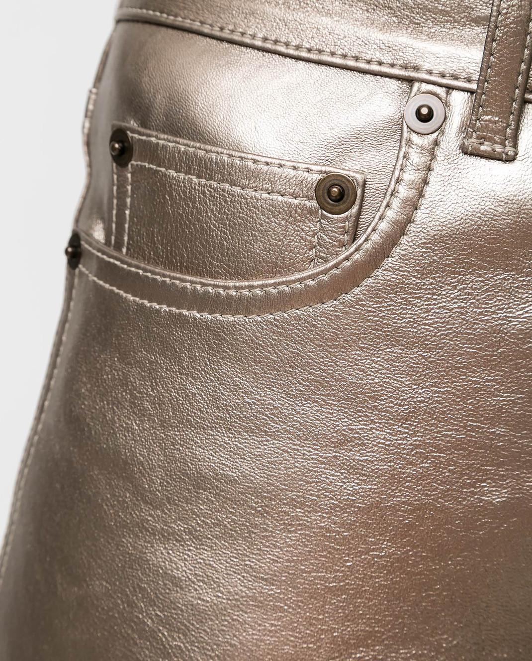 Saint Laurent Золотистые брюки изображение 5