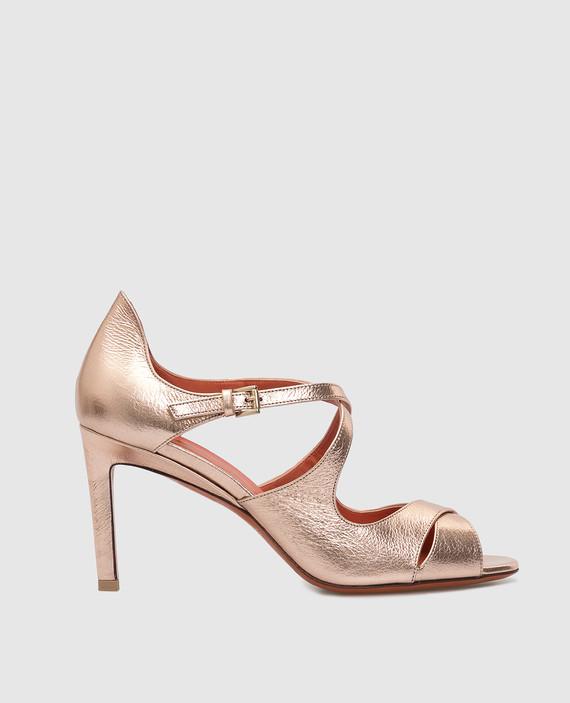 Розовые кожаные туфли