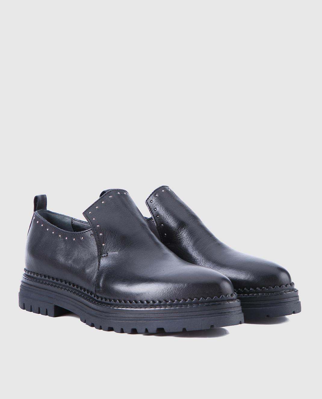 Fru it Черные кожаные туфли 4977 изображение 2