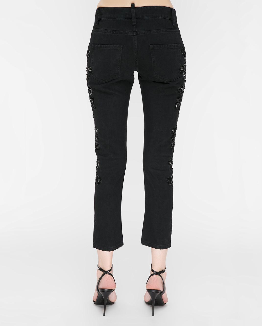 Amen Черные джинсы с пайетками ACS17607 изображение 4