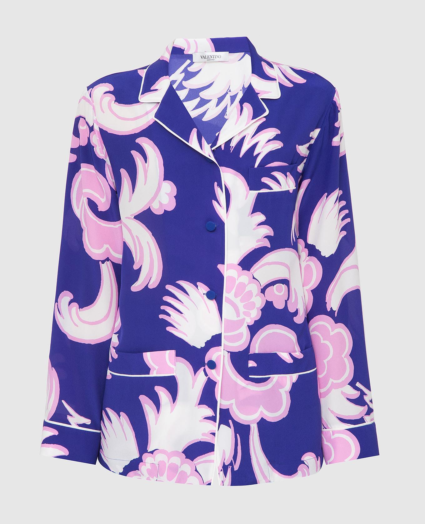 Фиолетовая блуза из шелка