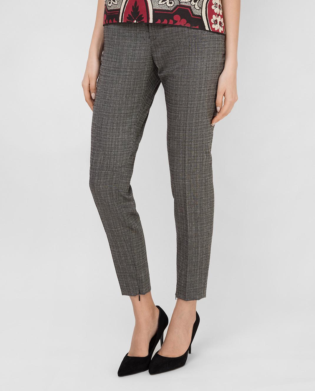 Saint Laurent Серые брюки из шерсти и мохера 502533Y083S изображение 3