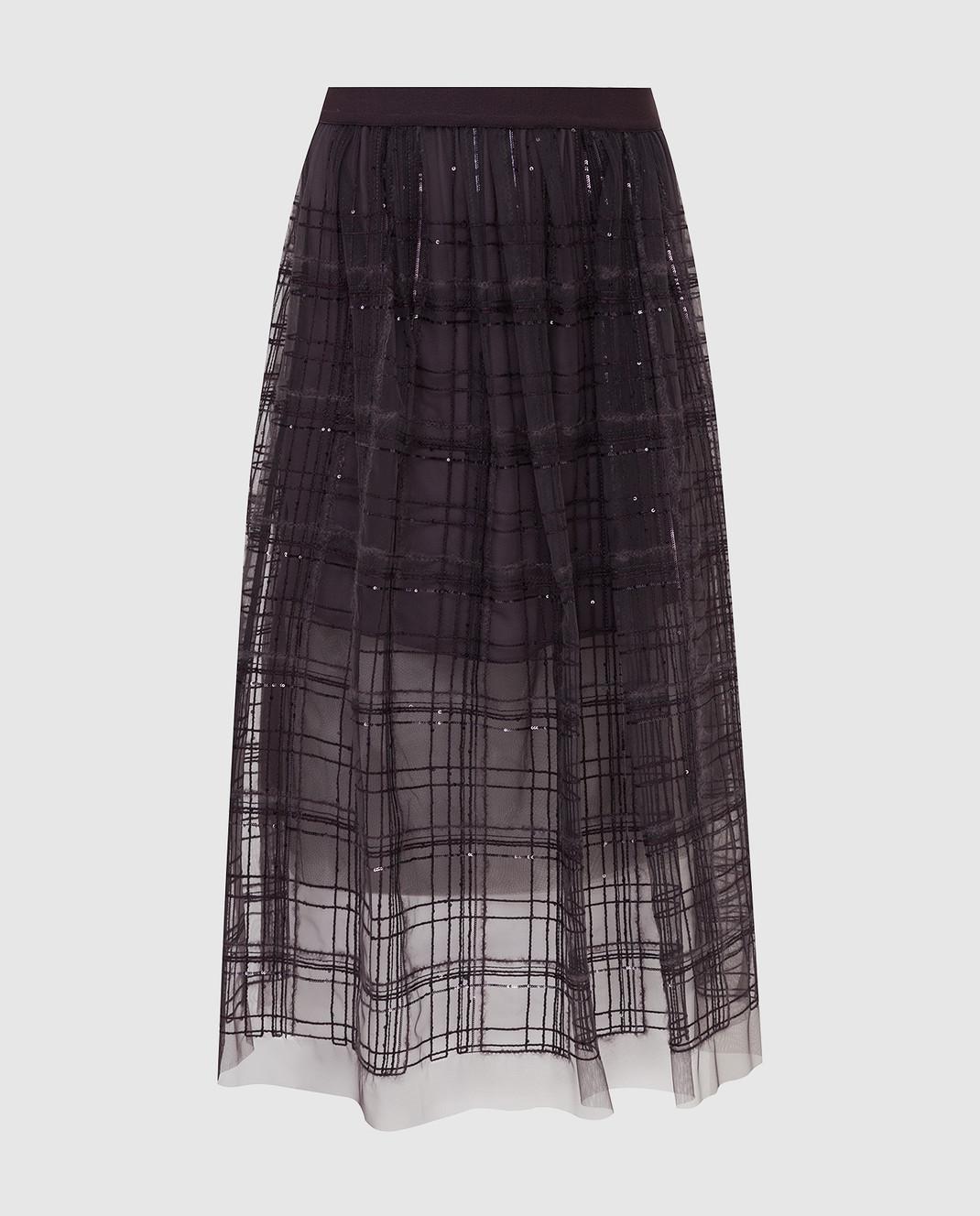 Brunello Cucinelli Фиолетовая юбка MA960G2709