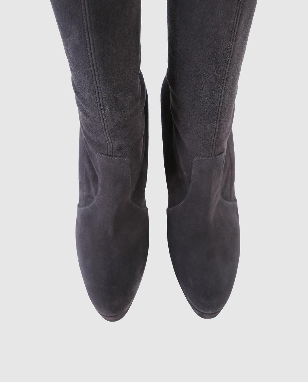 Casadei Темно-серые замшевые ботфорты 1T671L1201T045 изображение 4