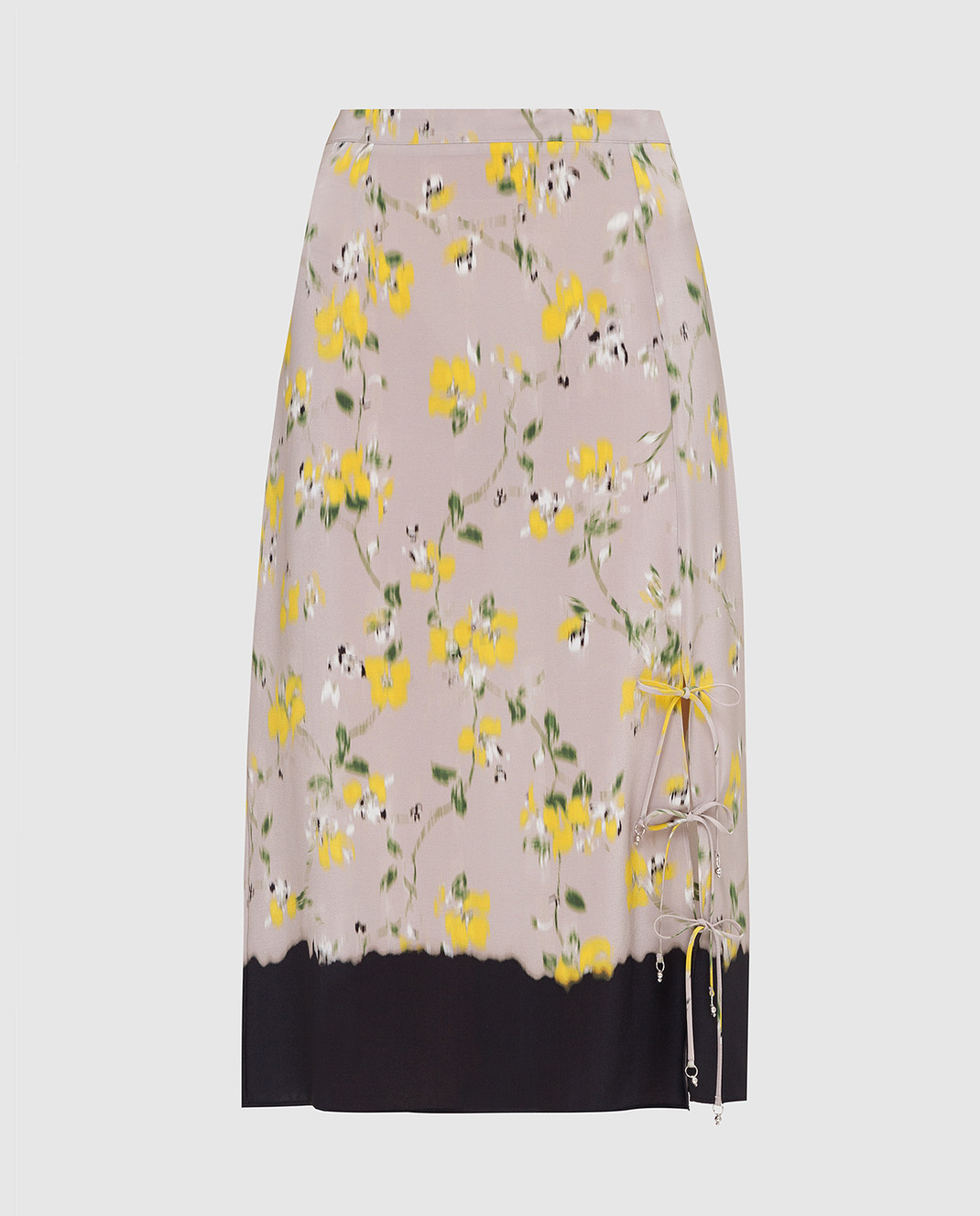 Altuzarra Серая юбка из шелка изображение 1