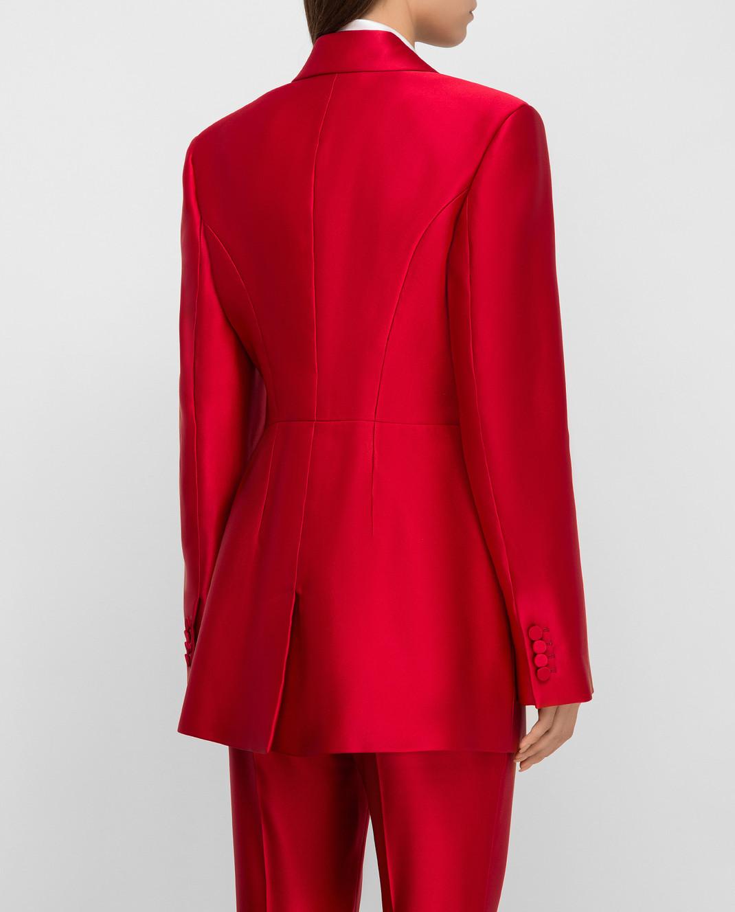 Alexander McQueen Красный жакет из шелка изображение 4