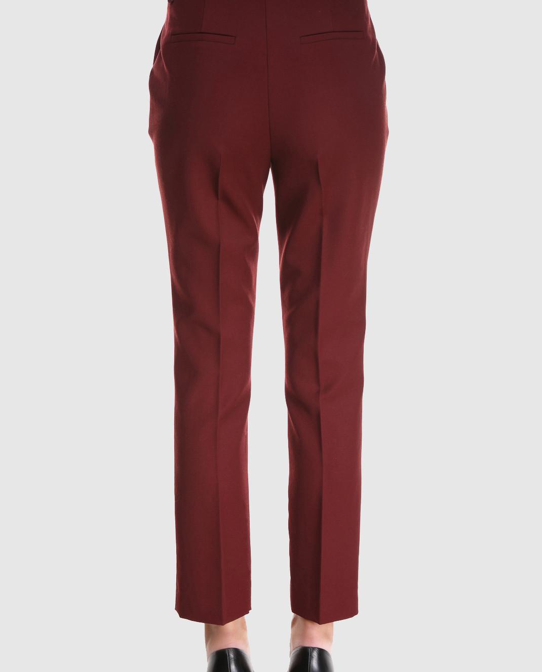 Victoria by Victoria Beckham Бордовые брюки из шерсти TRVV085B изображение 5