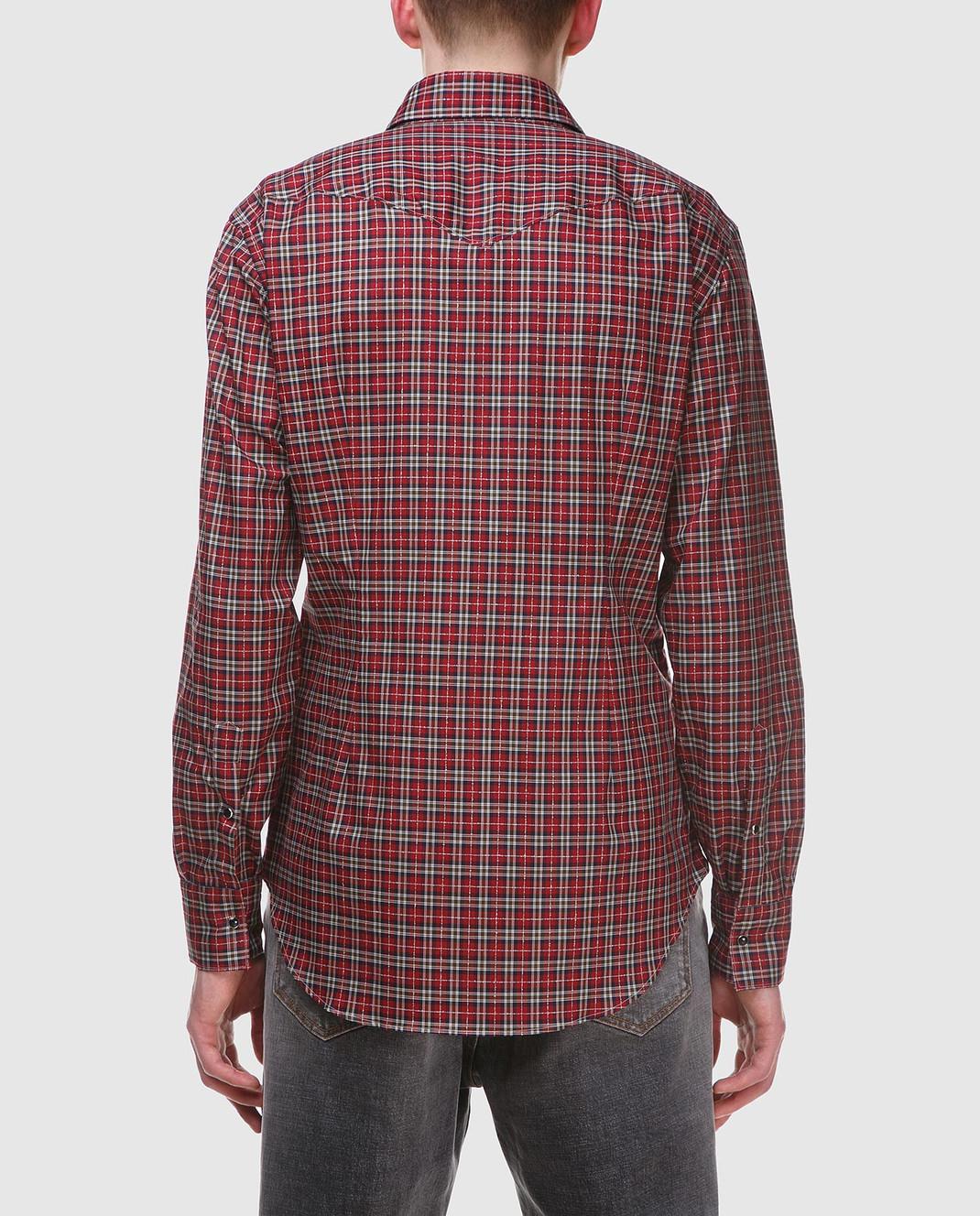 Eleventy Красная рубашка из египетского хлопка 979CA0056CAM24022 изображение 4