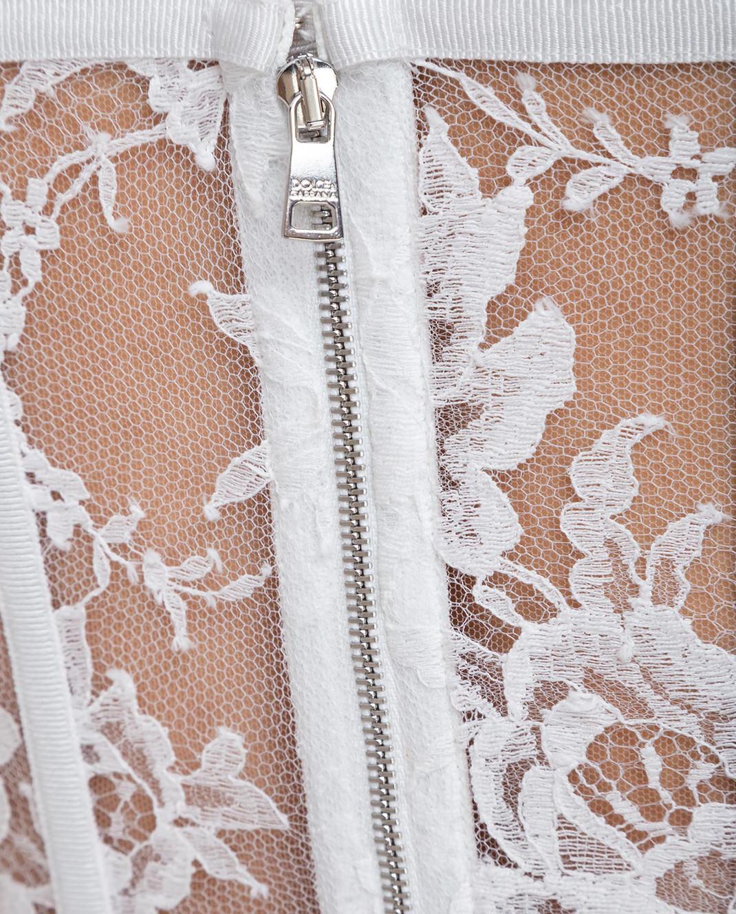 Dolce&Gabbana Белый топ F72X4THLMQJ изображение 5