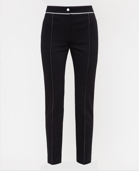 Черные брюки с принтом логотипа