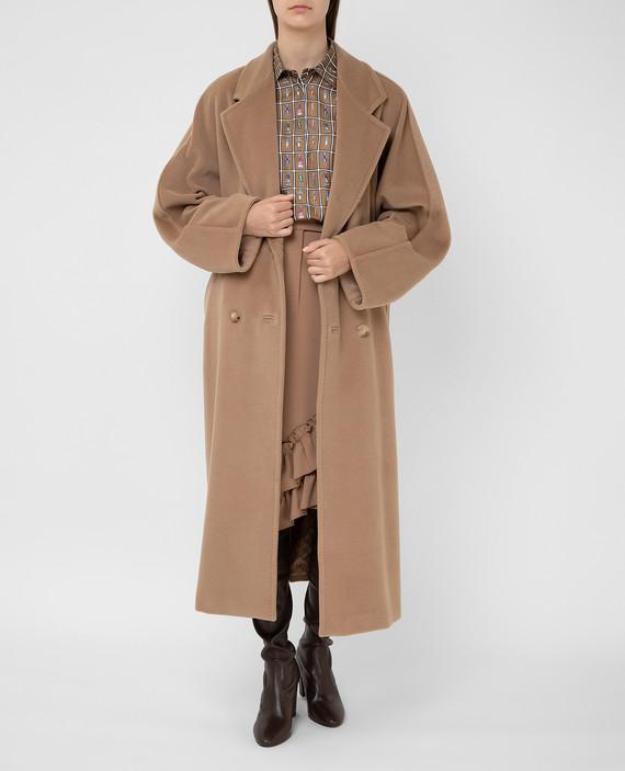 Бежевое пальто из шерсти и кашемира hover