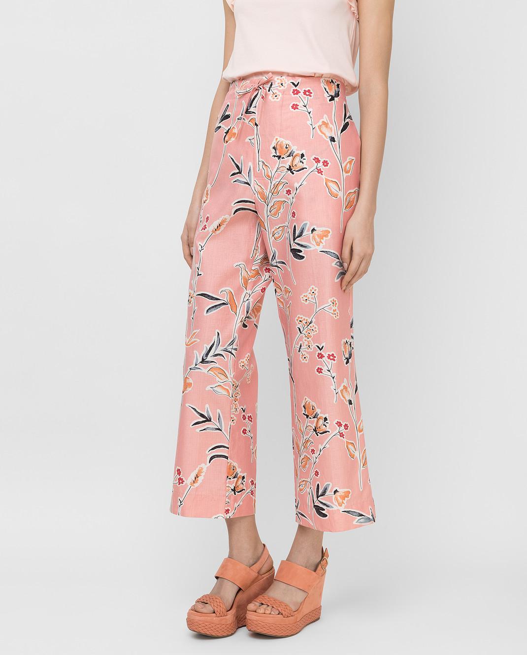 Marni Розовые брюки PAMAR02A00TCR58 изображение 3