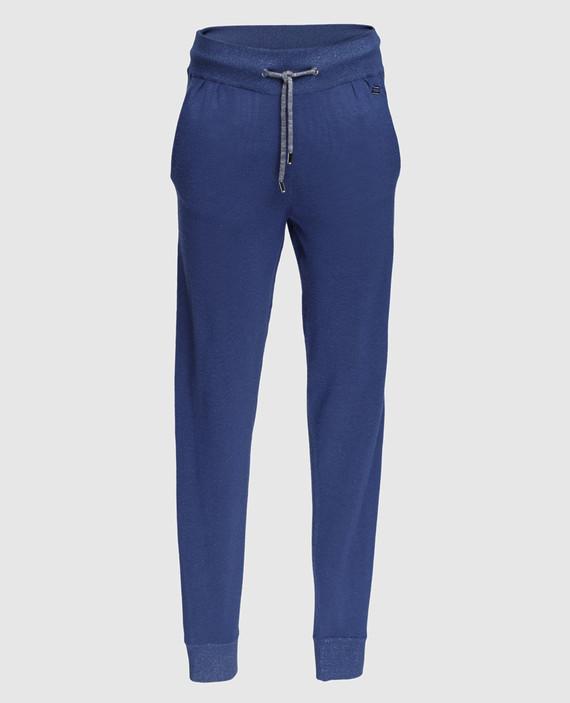 Синие брюки из кашемира