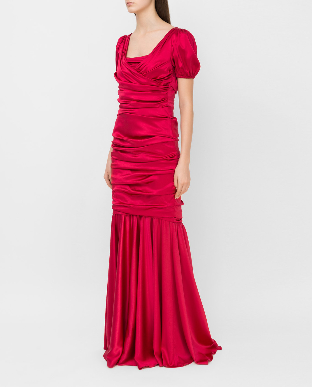 Dolce&Gabbana Красное платье из шелка F62B2TFURAG изображение 3