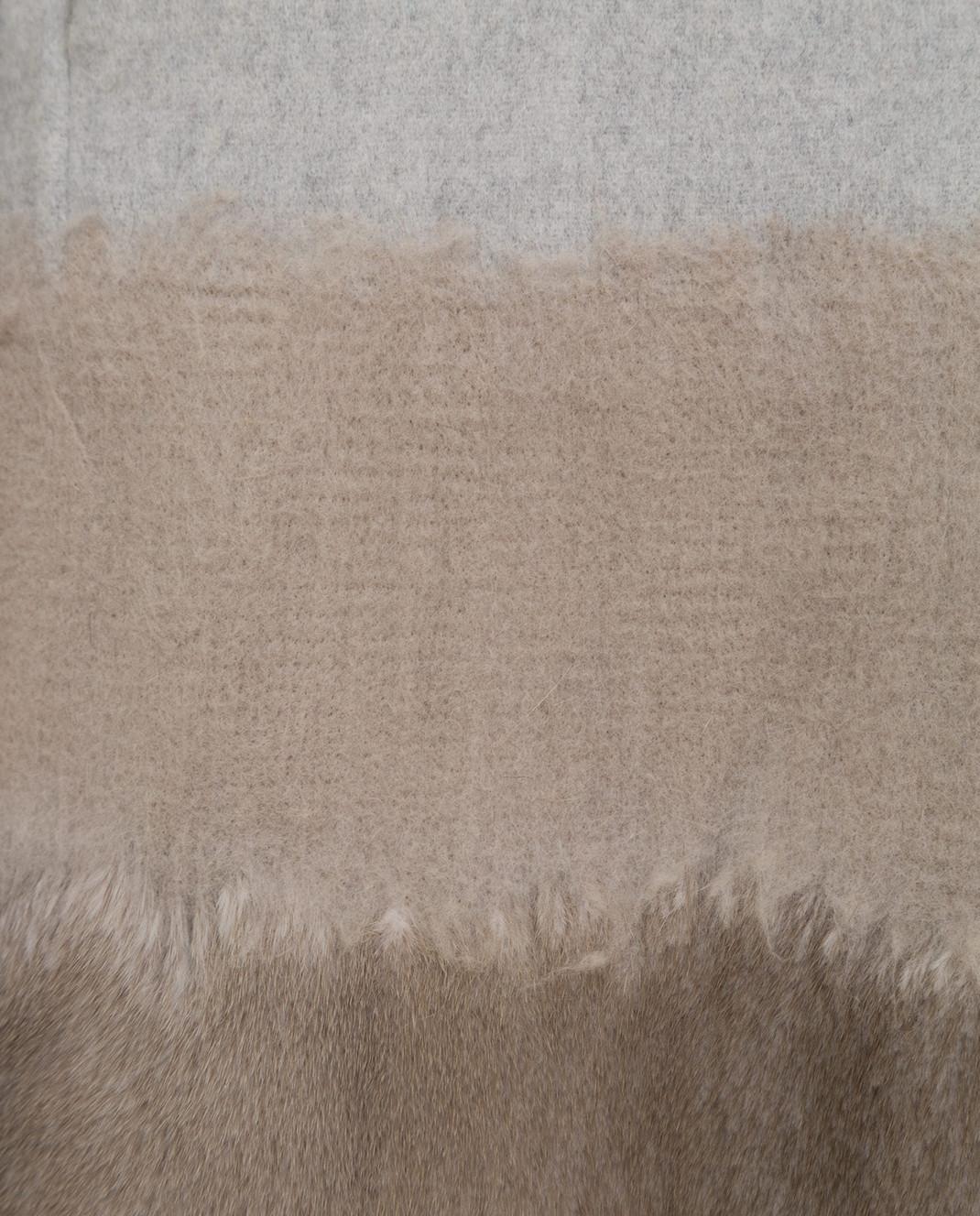 Rindi Серое пальто из шерсти и кашемира с мехом норки 295TE0R6 изображение 5